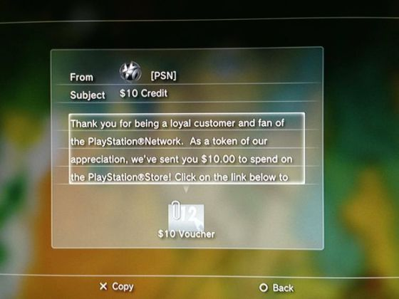 PSN free money