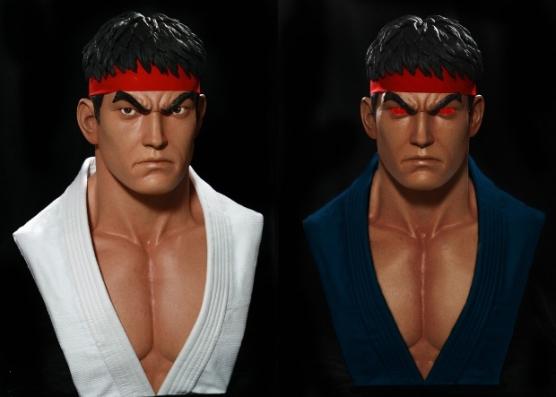 Ryu and Evil Ryu Busts