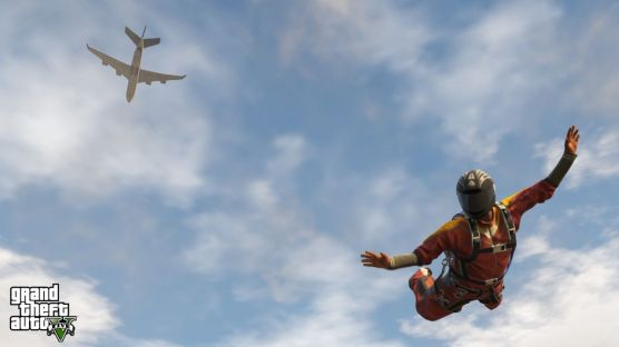 Grand Theft Auto V skydiving