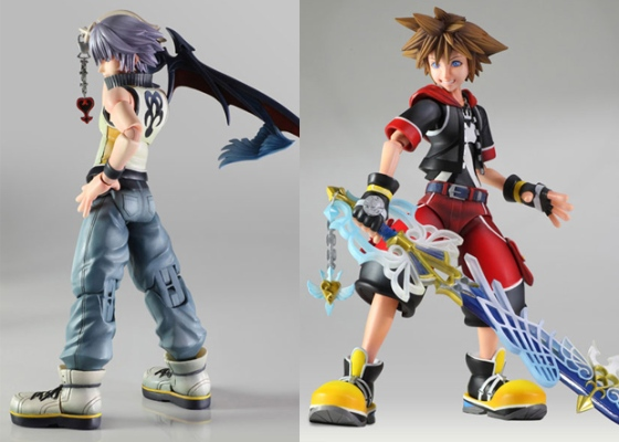 Kingdom Hearts 3D Play Arts Kai Figures