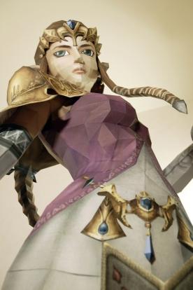 Zelda paper statue