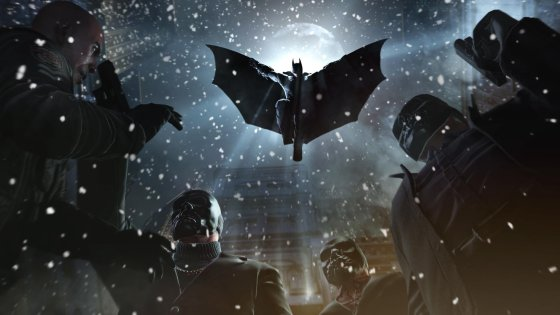 Batman Arkham Origins snowing